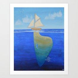 Underlying_boat Art Print