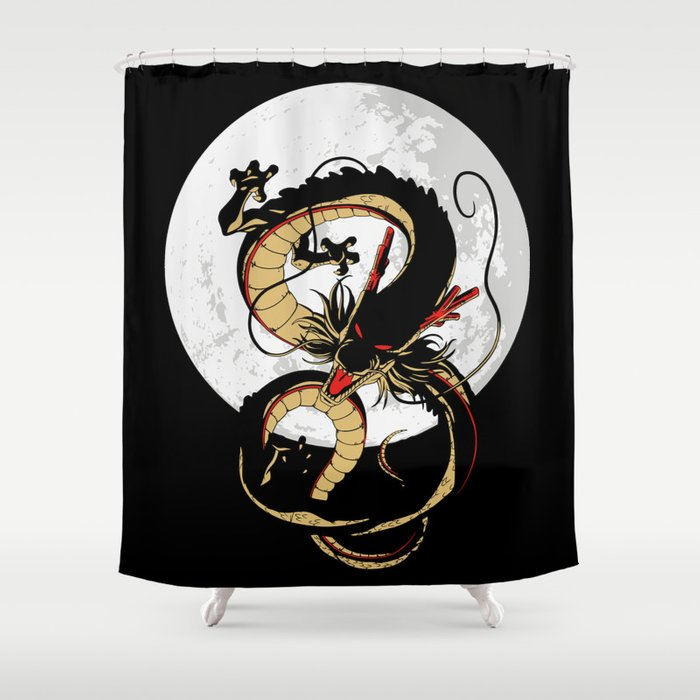 Black Dragon Shower Curtain