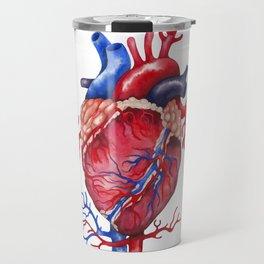 Watercolor heart Travel Mug