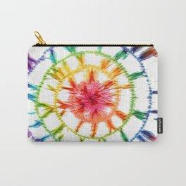 Shibori multicolored Carry-All Pouch