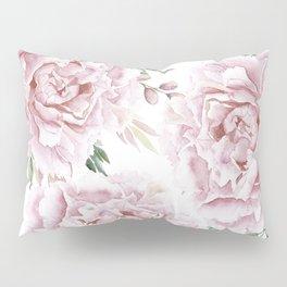 Pretty Pink Roses Floral Garden Pillow Sham