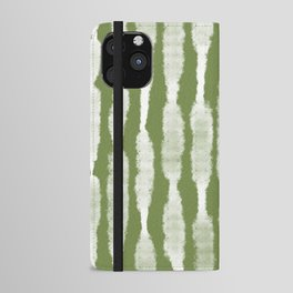Tie Dye no. 2 in Green  iPhone Wallet Case