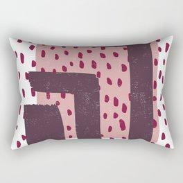 Modern Dots Between Lines Rectangular Pillow