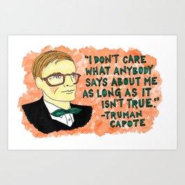 Truman Capote Art Print
