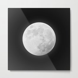 CHALK WHITE MOON Metal Print