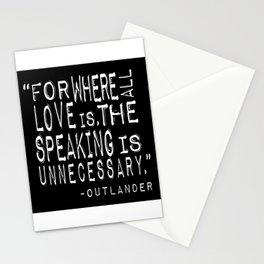 Outlander Quote Stationery Cards