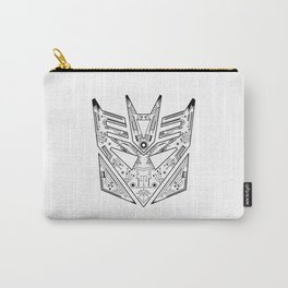Decepticon Tech Black and White Carry-All Pouch