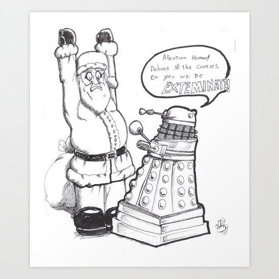Daleks like cookies  Art Print
