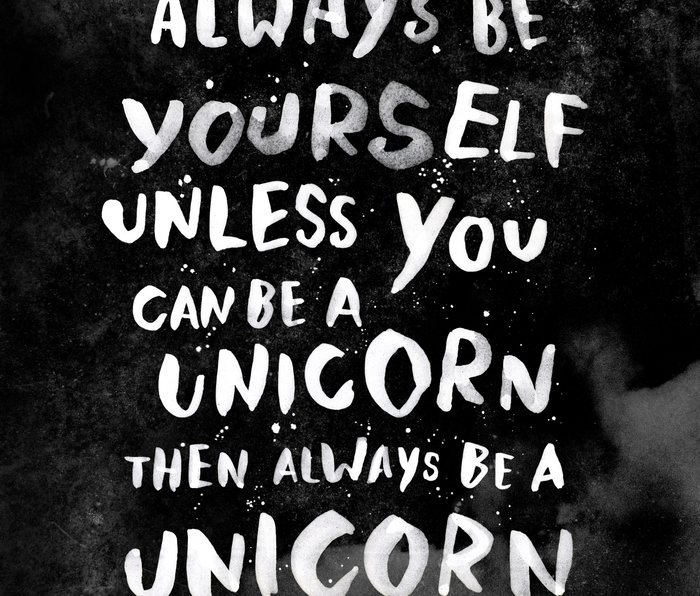 Always be yourself. Unless you can be a unicorn, then always be a unicorn. Metal Travel Mug