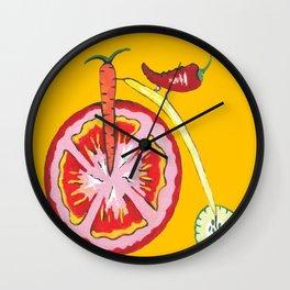 Kitchen Vegetable Art Wall Clock