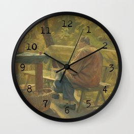 Late Summer pastime Wall Clock