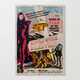 Vintage Battle-Star Galactica Vintage 1955 Theatre Poster Canvas Print