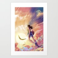 Changing the sky Art Print