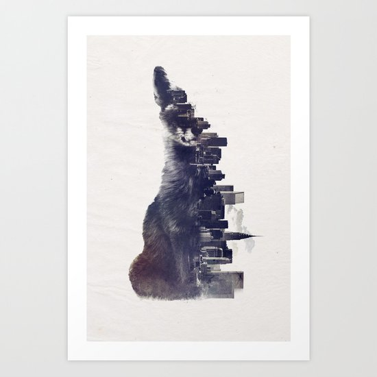 Fox from the City Art Print