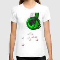 pills T-shirts featuring pills by Dusty Snowman