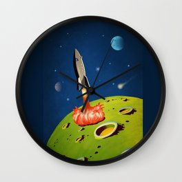 The World Of Outer Space Travel Wall Clock