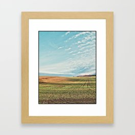 Sunlit Fields Framed Art Print