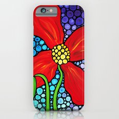 Lady In Red - Big bold beautiful Red poppy by Labor Of Love artist Sharon Cummings. Slim Case iPhone 6s