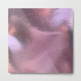 beautiful pink foil Metal Print