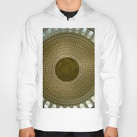 washington dc Hoodies featuring Looking Up - Capitol Rotunda, Washington DC by David Hohmann