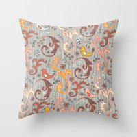 grim fandango Throw Pillows featuring Fandango by Heather Dutton