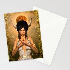 Taurus zodiac fantasy circle Stationery Cards
