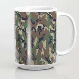 Woodland Forest Camouflage Pattern Coffee Mug