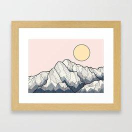 The sun and mountain Framed Art Print
