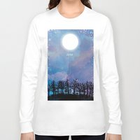 luna lovegood Long Sleeve T-shirts featuring Luna by Jo Cheung Illustration