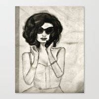 vogue Canvas Prints featuring Vogue by Caroline Jordan