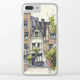 Residential house along Amsterdam canals Clear iPhone Case