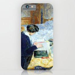 Edouard Vuillard Lucy Hessel Reading iPhone Case