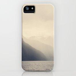 Foggy Fjord, North Sea iPhone Case