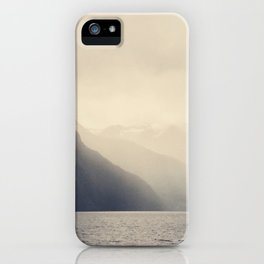 Foggy Fjord, North Sea iPhone Case