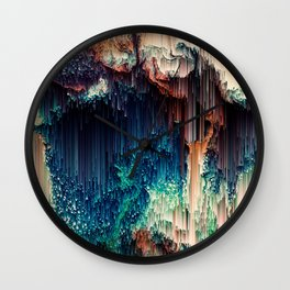 Cave of Wonders - Abstract Glitch Pixel Art Wall Clock