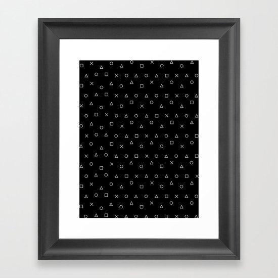 black gaming pattern - gamer design - playstation controller symbols by ohaniki