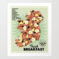 irish Art Prints featuring Irish Breakfast by JupiterInLove