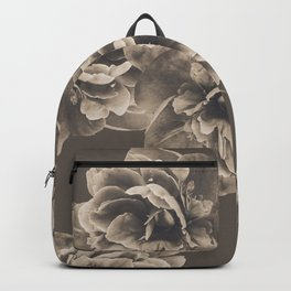 Sepia Peony Flower Bouquet #1 #floral #decor #art #society6 Backpack