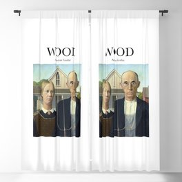 Wood - American Gothic Blackout Curtain