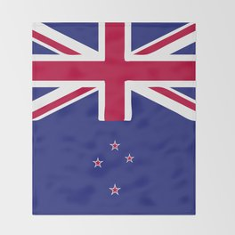 New Zealand flag emblem Throw Blanket