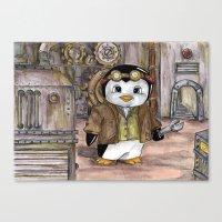 engineer Canvas Prints featuring Penguin Engineer by Tanya Davis Art