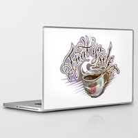 treat yo self Laptop & iPad Skins featuring Treat Yo Self by Bokkei
