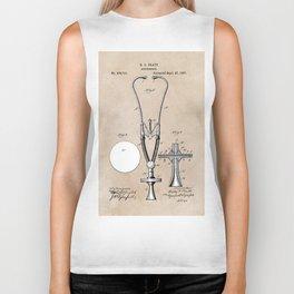 patent art Pratt 1887 Stethoscope Biker Tank