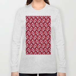 Distorted rhombuses in a red cover. Long Sleeve T-shirt