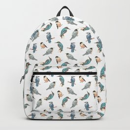Watercolor Birds Pattern Backpack
