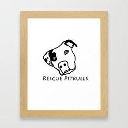 Rescue Pitbulls Logo Framed Art Print