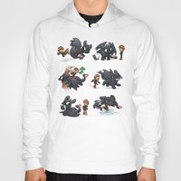 how to train your dragon Hoodies featuring How Not to Train Your Dragon by Dooomcat