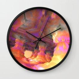 The Soft Colonnade (3D Fractal Digital Art) Wall Clock