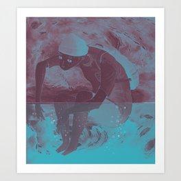 i cant swim Art Print