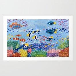 Underwater Ecosystem Art Print